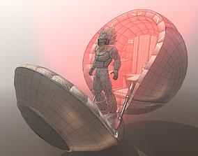 3D asset Saiyans Attack Ball