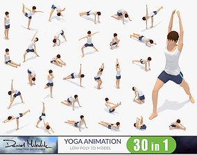 3D model 30 Yoga Pose Animations Bundle Woman
