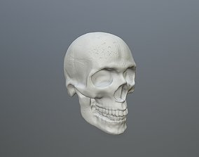 skull 3D print model headstone
