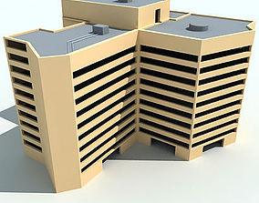 Yellow Complex Building 51 3D model