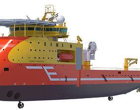 3D model Offshore Construction Vessel Viking Poseidon