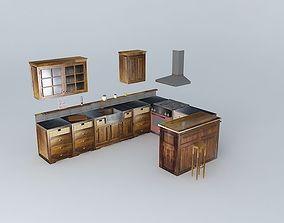 Kitchen Maisons du monde U Luberon 3D model
