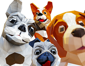 3D asset Dog pack