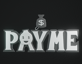Payme pendant necklace 3d print model