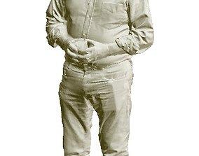 Old man standing 3D print model