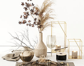 Autumn Tableware 3D model