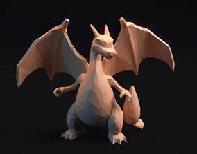 Charizard - Stylized Pokemon LowPoly 3D printable model 1