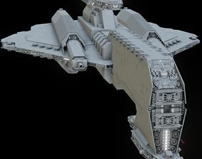 Keldabe-class battleship 3D