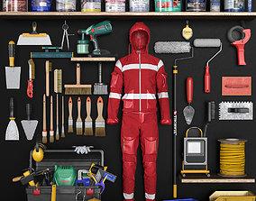 3D asset game-ready garage tools set 6