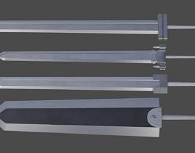 Guts swords from Berserk 3D asset