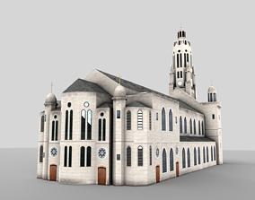 Roman Catholic church Paris France PBR 3D model