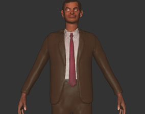 Mr Bean people character comedy 3D print realtime