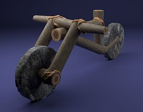 3D asset Stone Age Bicycle Primal