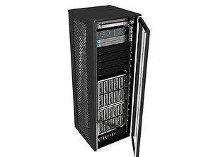 3D model Server Rack - Modern Storage