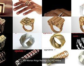 100 Woman Rings Package 03 3D model