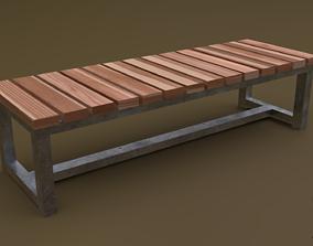 Bench 07 3D asset