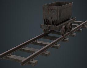 3D asset Mining Cart 1B