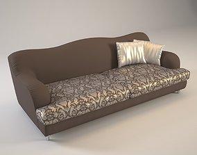 3D Golden sofa