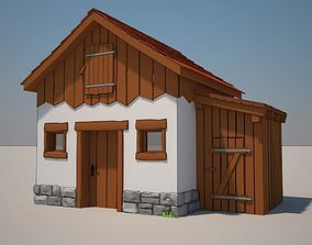 3D Cartoon Medieval House 07