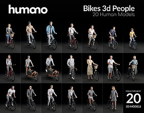 Humano 20-Collection 07 - BIKES PEOPLE - 20x 3D models