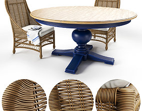 Cooper Round Dining Table 3D