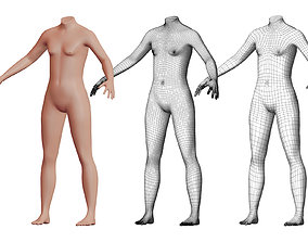 Character 37 High and Low-poly - Body male 3D