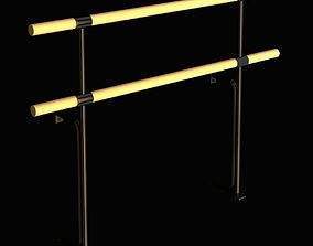 Double fixed ballet barres system 3D