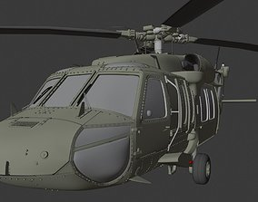 Helicopter UH60 blackhawk 3D model
