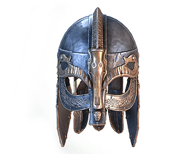 Viking helmet 3D model VR / AR ready PBR