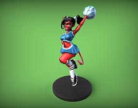 3D printable model Devil Girl Pinup - Cheerleader