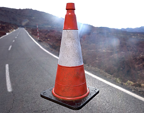 Traffic Cone Low poly 3D model