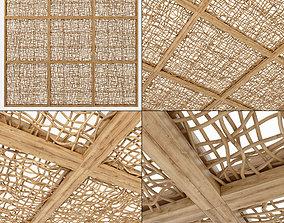 Ceiling wood curls branch n1 3D