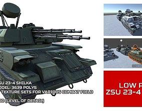 3D asset Low Poly ZSU 23-4 Shilka