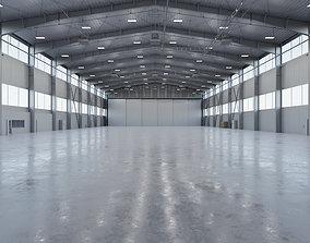 Airplane Hangar Interior 5b 3D model
