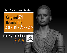 3D print model Daisy Ridley - Rey - Star Wars