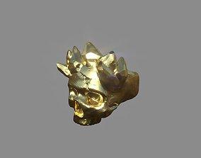 3D printable model art MountainSkull Ring