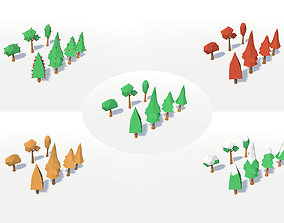 3D asset LOW POLY SEASONS TREES