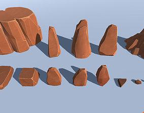 CB Stylized Rock Pack 3D asset