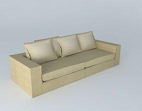 3D Sofa BARNABE linen houses the world