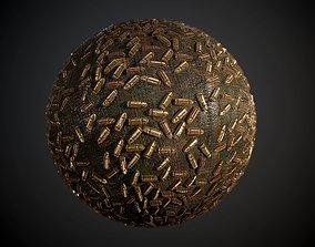 9mm Bullets Weapon Seamless PBR Texture 3D
