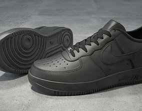 Nike Air Force 1 low black 3D model VR / AR ready