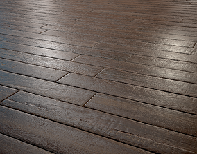 3D asset Old woodstrip Parquet - PBR textures
