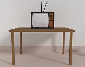 Low Poly TV 3D model low-poly