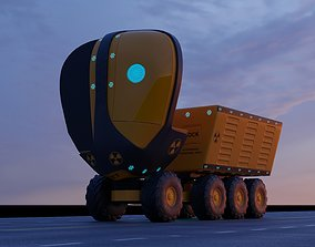 3D Unmanned Electric Truck UV