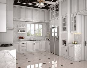 White Kitchen 3D interior