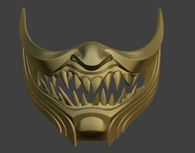 3D printable model Scorpion Demon Samurai cosplay mask 4