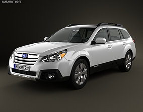 3D model Subaru Outback limited US 2013