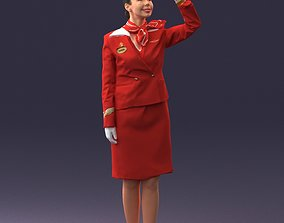 Stewardess 0614 3D Print Ready