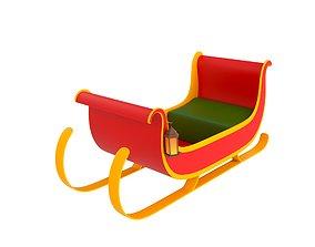 Santa Sleigh concept 3D