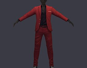 3D model avatar cost shirt pants brown black